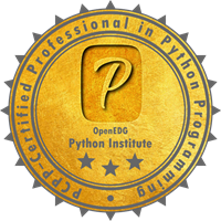 OpenEDG PCPP1 Certification Badge