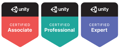 Unity Certified Associate, Unity Certified Professional, Unity Certified Expert