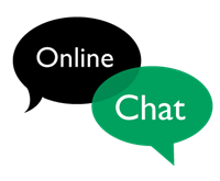 Online Chat (Talking bubble graphic)