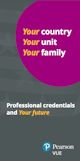 Professional credentials and your future brochure